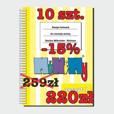 10 szt. -15% - Zeszyt ćwiczeń do rozwoju mowy cz. 1 (1)