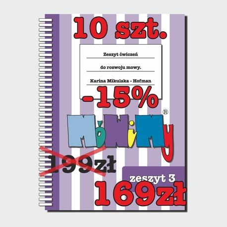 10 szt. -15% - Zeszyt ćwiczeń do rozwoju mowy cz. 3 (1)