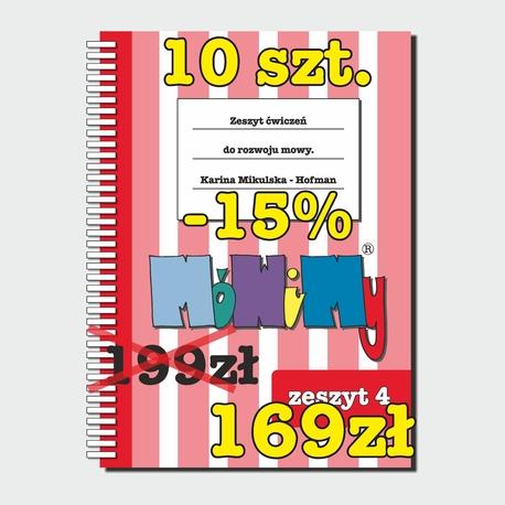 10 szt. -15% - Zeszyt ćwiczeń do rozwoju mowy cz. 4 (1)
