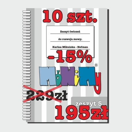 10 szt. -15% - Zeszyt ćwiczeń do rozwoju mowy cz.5 (1)