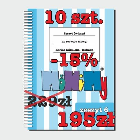 10 szt. -15% - Zeszyt ćwiczeń do rozwoju mowy cz.6 (1)